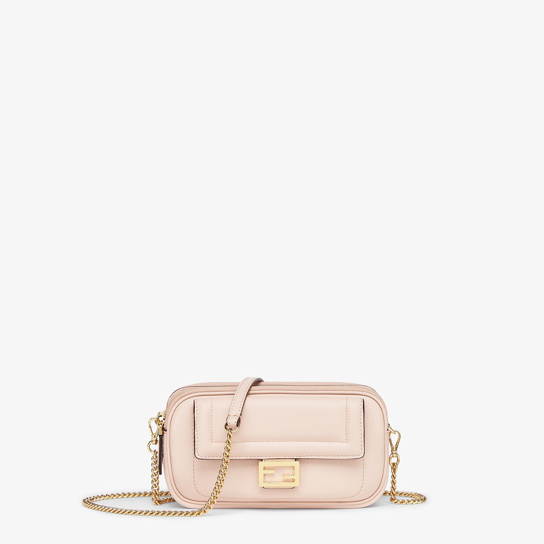 FENDI EASY 2 BAGUETTE - Pink leather mini bag - view 1 detail