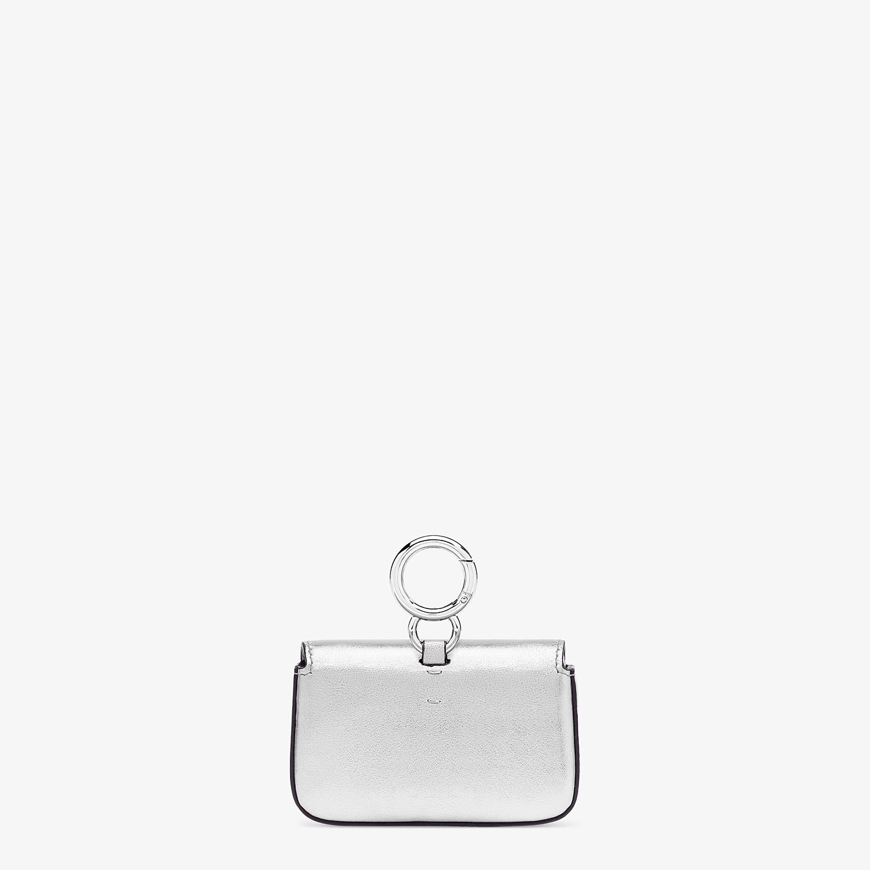 FENDI NANO BAGUETTE - Silver leather charm - view 3 detail