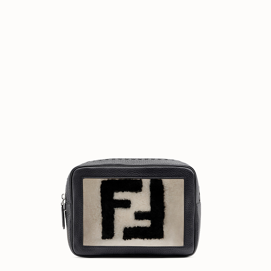 FENDI LARGE CAMERA CASE - Black leather bag - view 1 detail