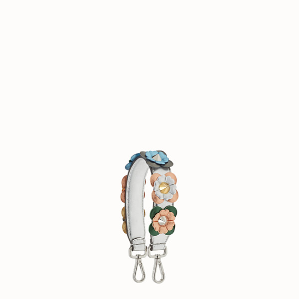 FENDI MINI STRAP YOU - Short shoulder strap in leather with flowers - view 1 small thumbnail