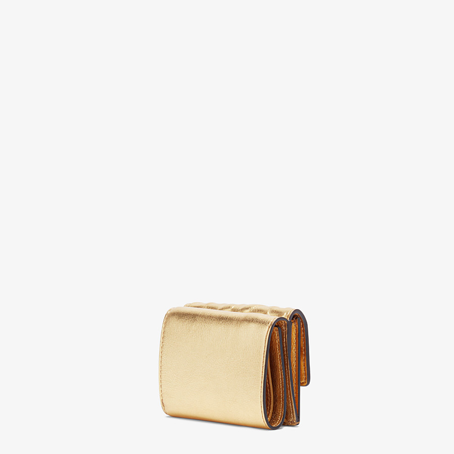FENDI MICRO TRIFOLD - Golden leather wallet - view 2 detail