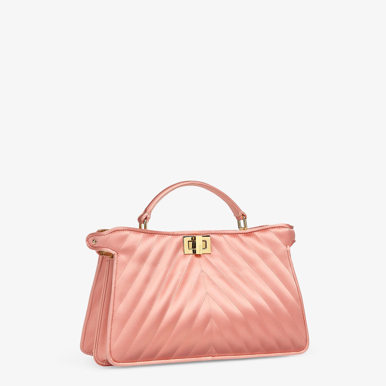FENDI PEEKABOO I SEE U EAST-WEST - Pink satin bag - view 3 detail