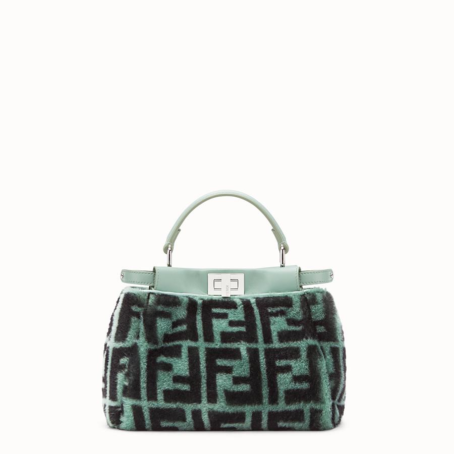FENDI PEEKABOO MINI - Green sheepskin bag - view 1 detail