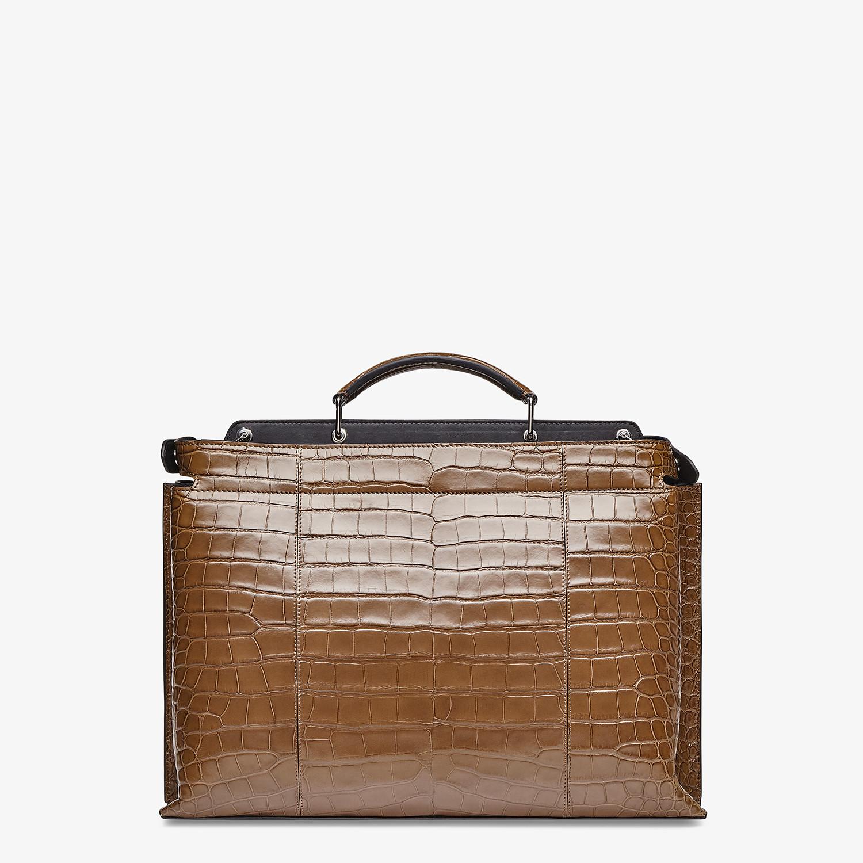 FENDI PEEKABOO ICONIC ESSENTIAL - Brown alligator leather bag - view 3 detail