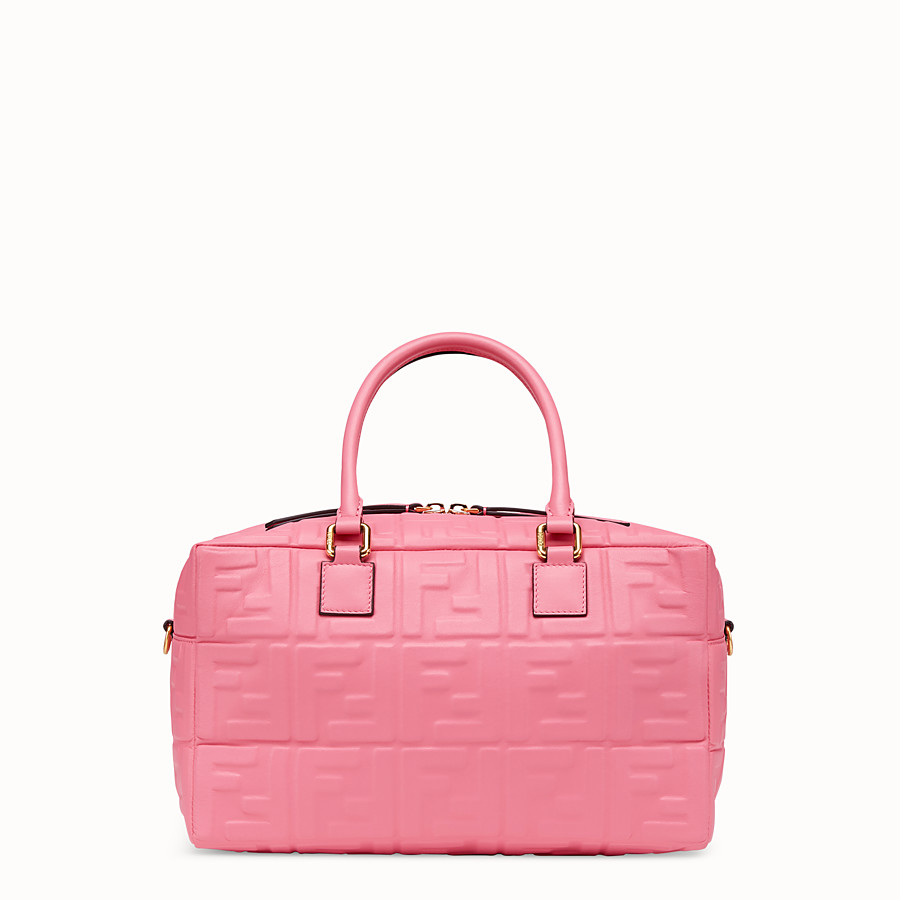 FENDI BOSTON SMALL - Pink leather Boston bag - view 3 detail