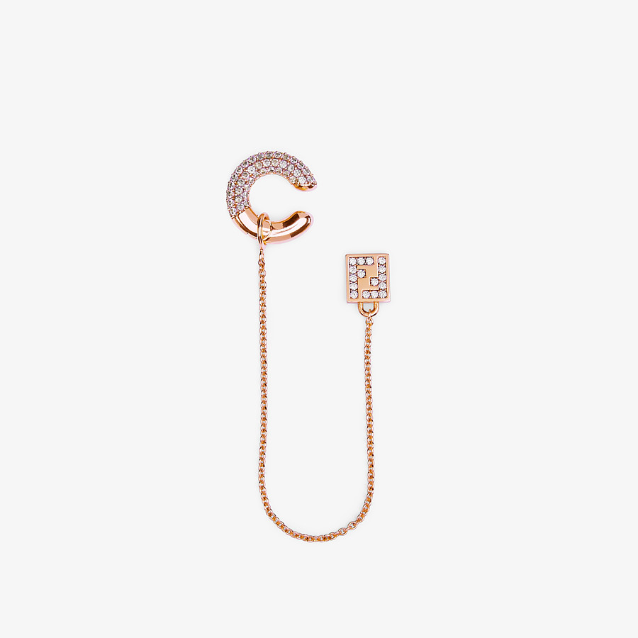 FENDI FENDIOOPS EARRING - Rose-gold-colored earring - view 1 detail