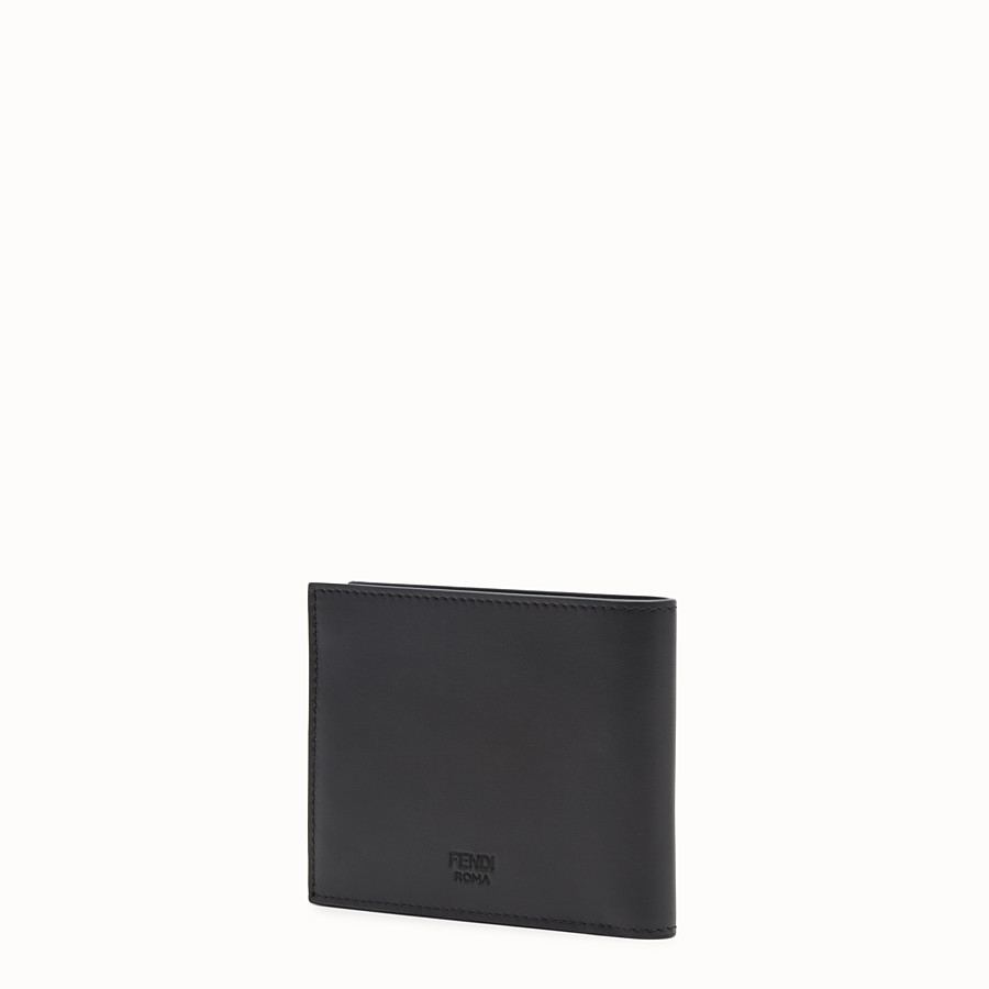FENDI WALLET - Black leather bi-fold wallet - view 2 detail