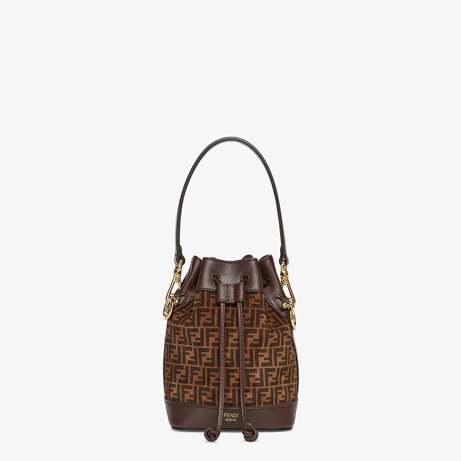 FENDI MON TRESOR - Brown leather mini-bag with FF print - view 1 detail