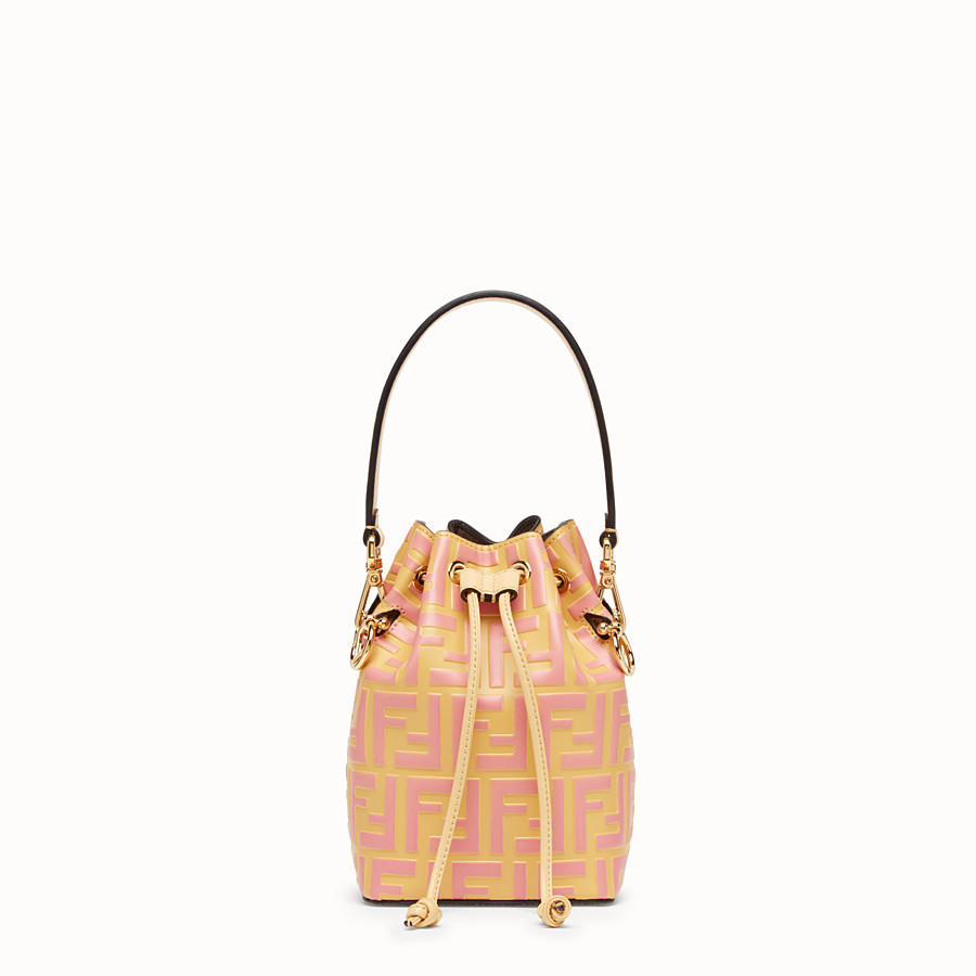 FENDI MON TRESOR - Beige leather mini-bag - view 1 detail