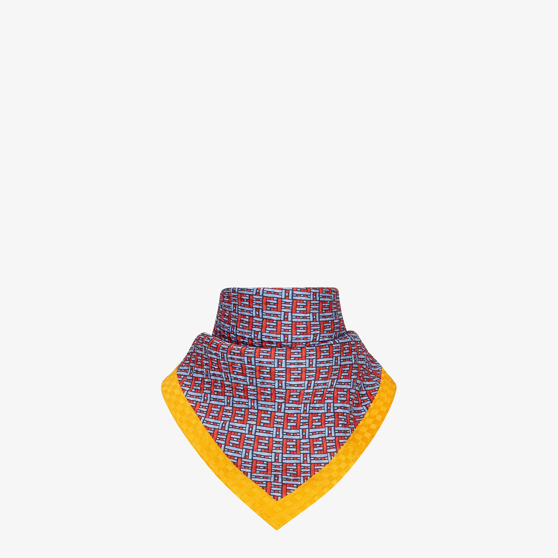 FENDI FF FOULARD - Light blue silk foulard - view 2 detail
