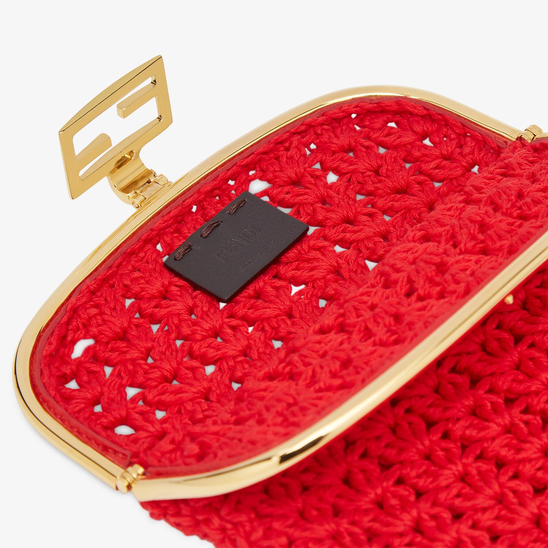 FENDI BAGUETTE PHONE BAG - Red fabric mini-bag - view 4 detail