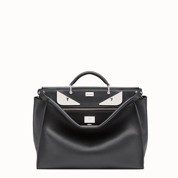 FENDI PEEKABOO - in black leather with metal Bag Bugs - view 1 small thumbnail