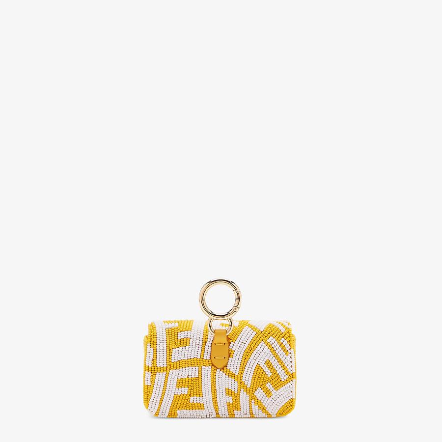 FENDI NANO BAGUETTE CHARM - Charm with yellow beads - view 3 detail
