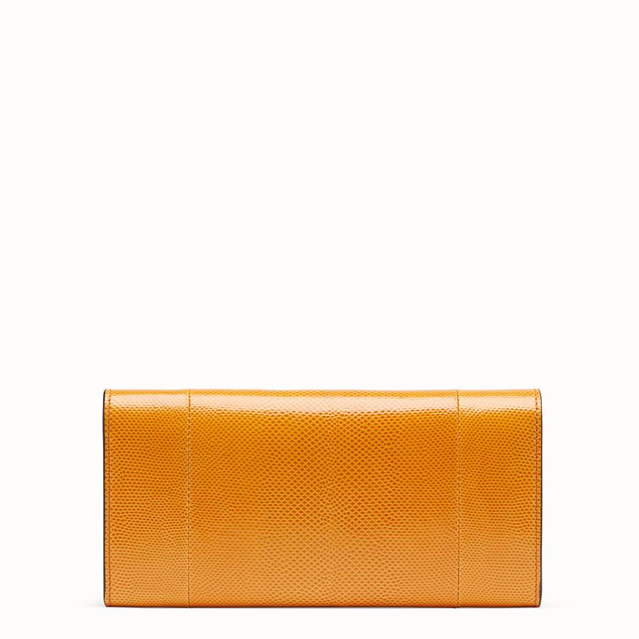 FENDI CONTINENTAL WITH CHAIN - Orange karung wallet - view 3 detail