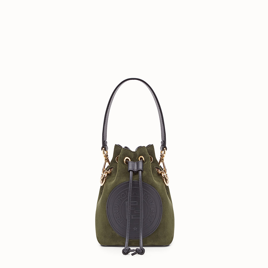 FENDI MON TRESOR - Green suede mini-bag - view 1 detail