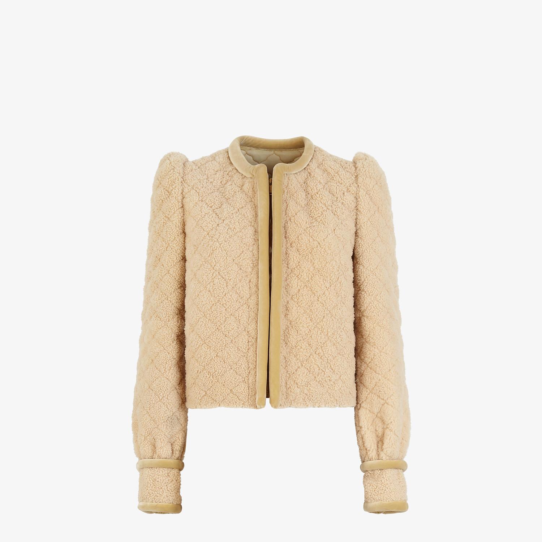 FENDI JACKET - Beige shearling jacket - view 1 detail
