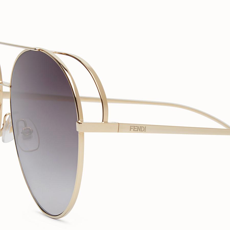 FENDI RUN AWAY - 金色太陽眼鏡 - view 3 detail