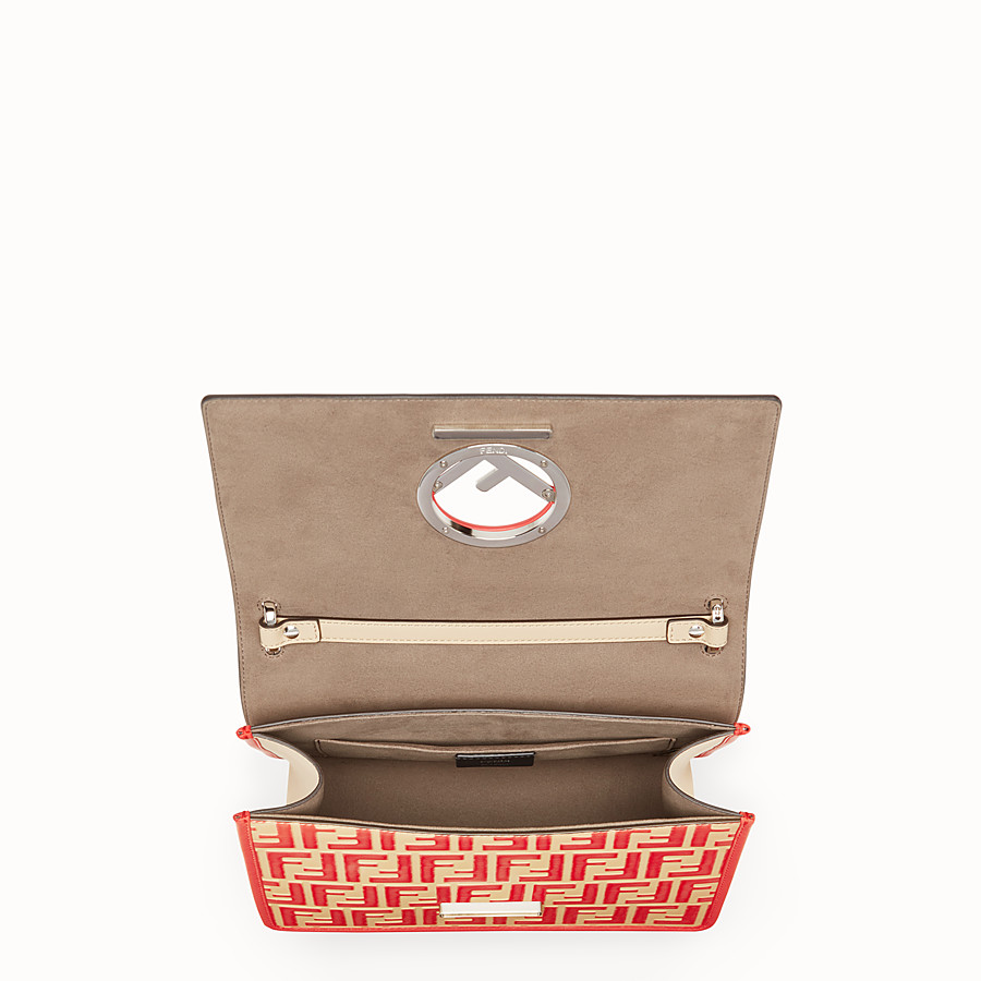 FENDI KAN I F - Beige leather bag - view 4 detail