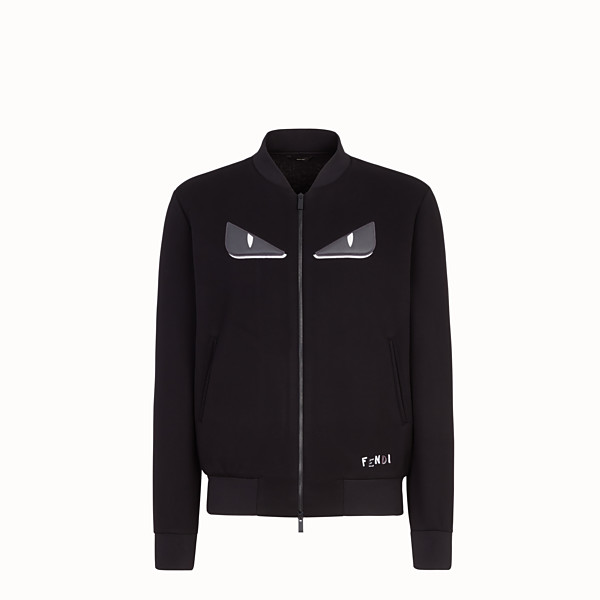 FENDI BOMBER - Black fabric jacket - view 1 small thumbnail