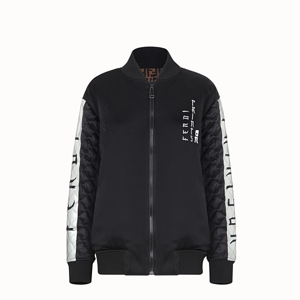 FENDI GIACCA - Bomber Fendi Prints On in satin - vista 1 thumbnail piccola