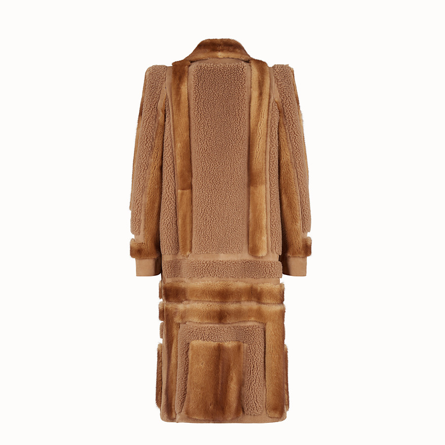 FENDI COAT - Brown fur coat - view 2 detail