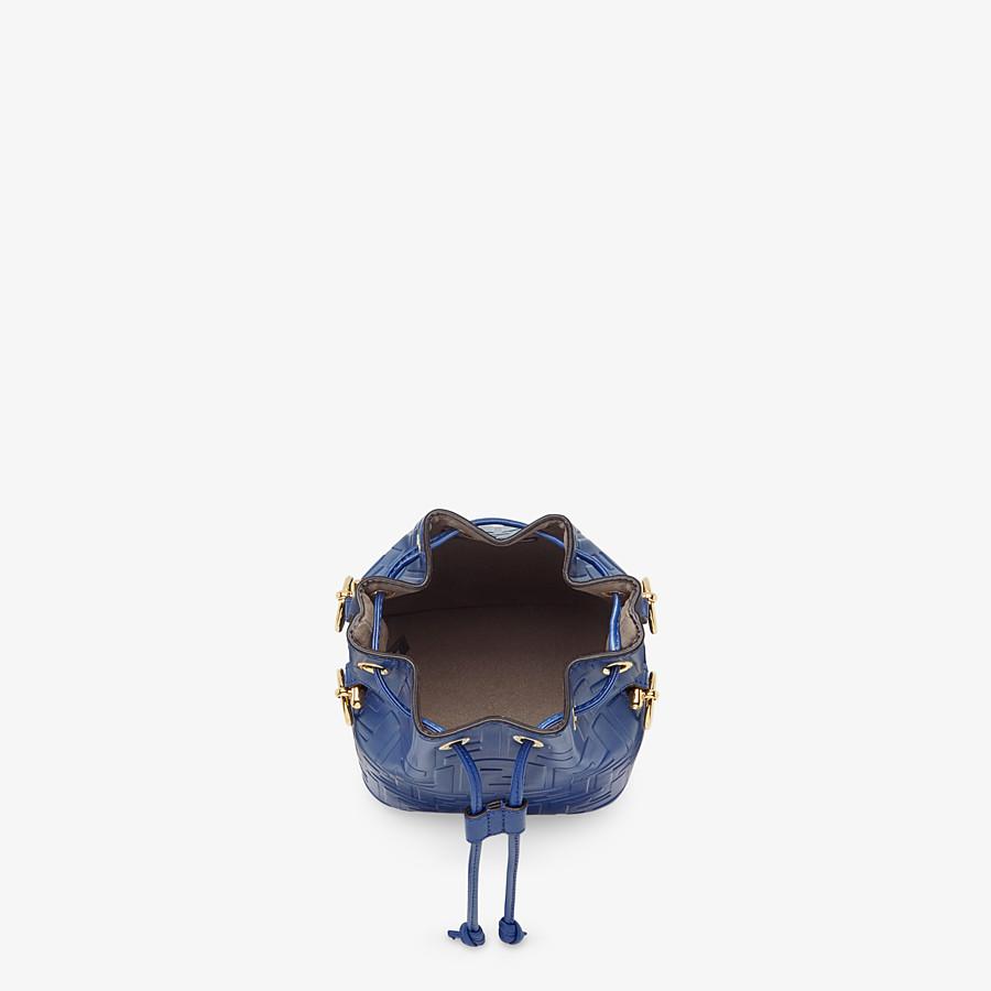 FENDI MON TRESOR - Blue leather mini-bag - view 4 detail