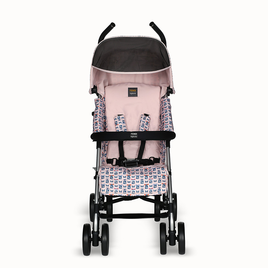 FENDI PUSHCHAIR - Pink stroller with monster pattern - view 1 detail