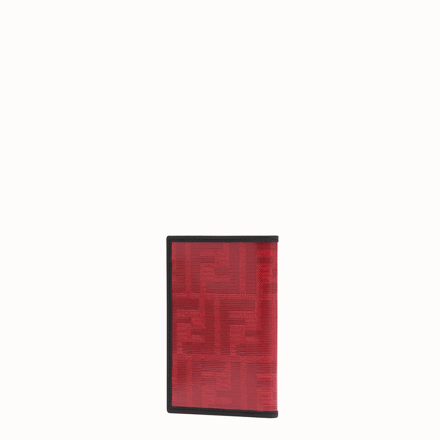 FENDI CARD HOLDER - Red fabric card holder - view 2 detail