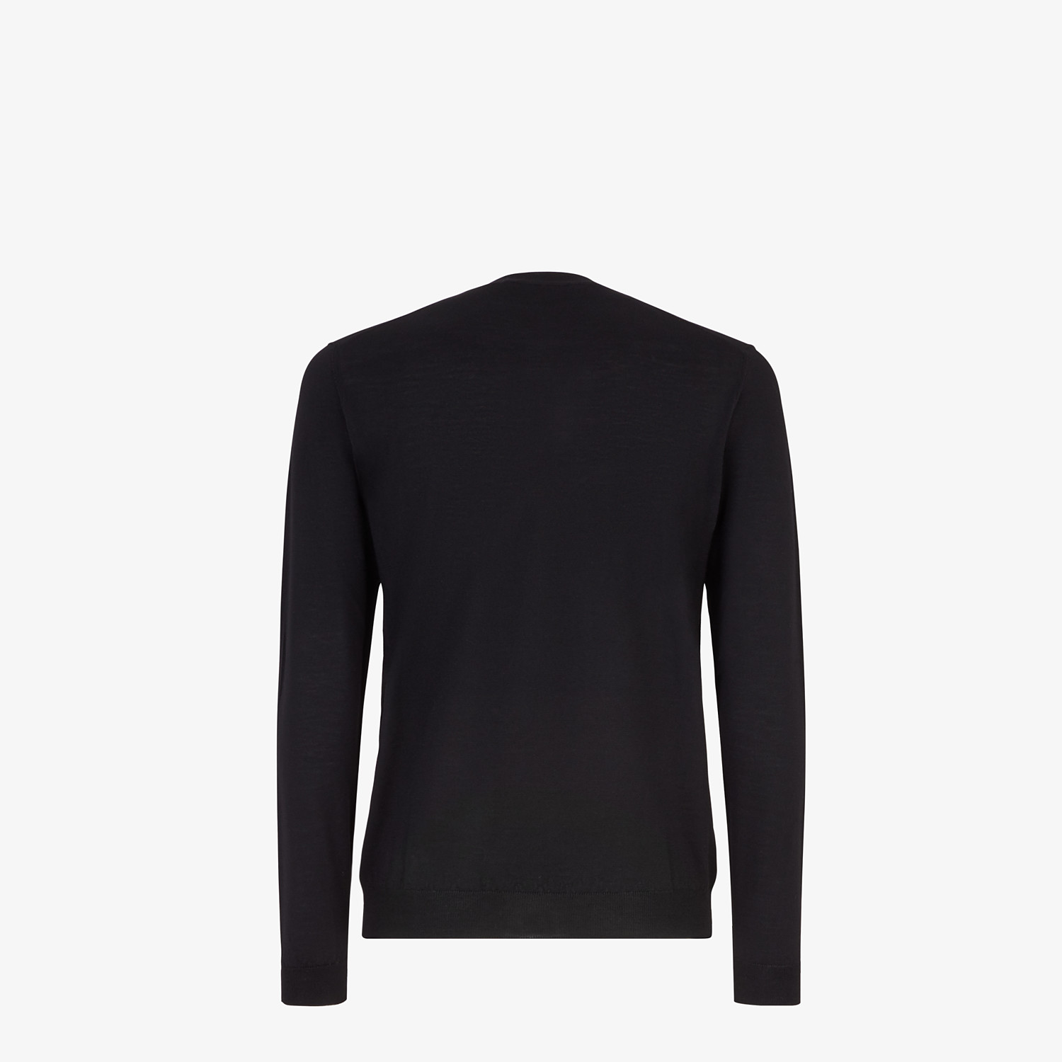 FENDI PULLOVER - Black wool sweater - view 2 detail