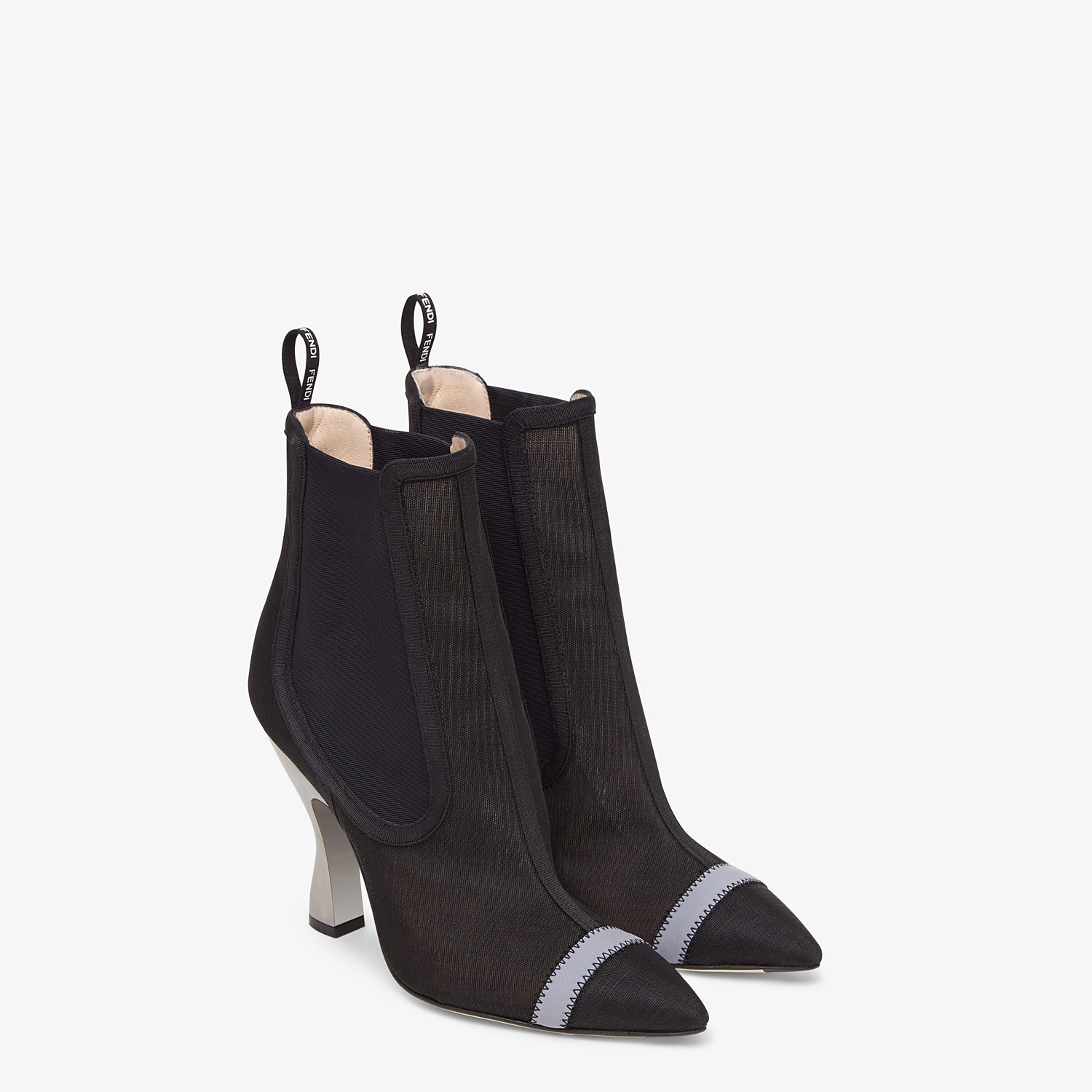 FENDI ANKLE BOOTS - Black mesh booties - view 4 detail