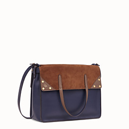 FENDI FENDI FLIP LARGE - Blue leather bag - view 4 thumbnail