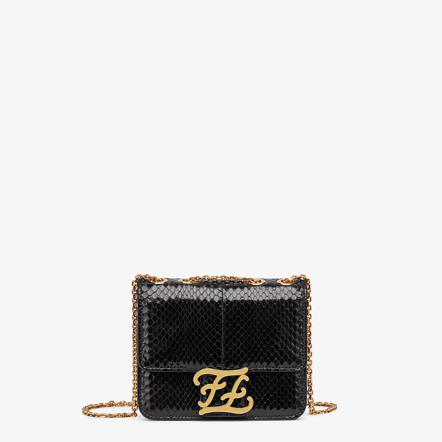 FENDI KARLIGRAPHY - Black elaphe bag - view 1 detail
