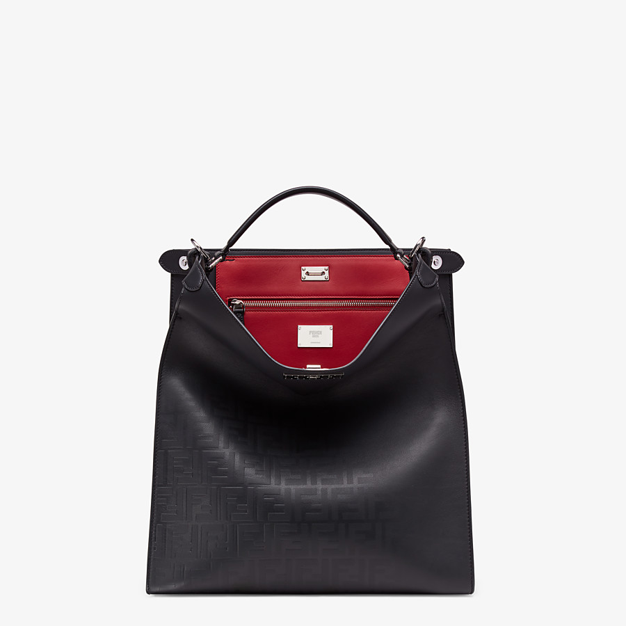 FENDI PEEKABOO X-LITE FIT - Black calfskin bag - view 2 detail
