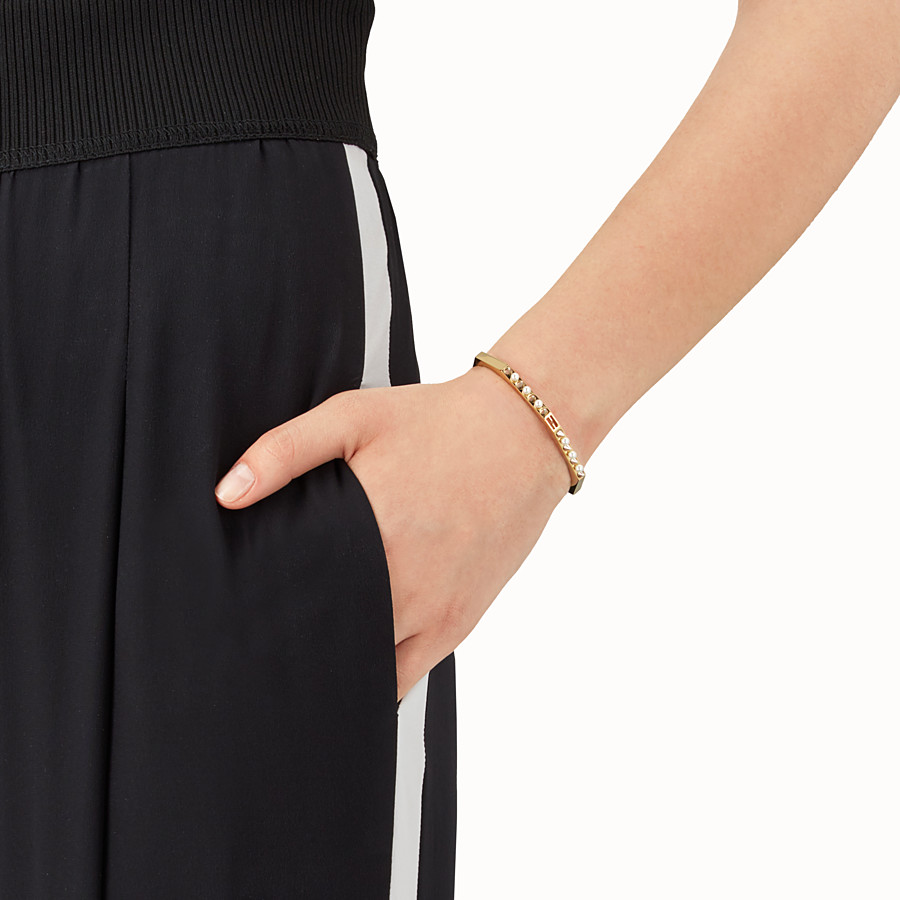 FENDI BAGUETTE BRACELET - Gold colour bracelet - view 2 detail