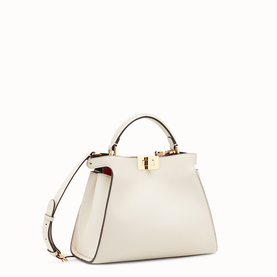 FENDI PEEKABOO ESSENTIAL - White leather bag - view 2 detail