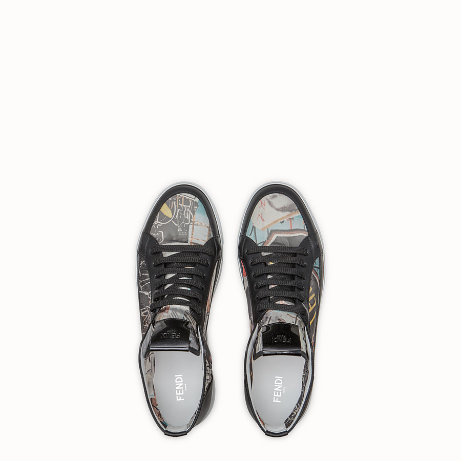 FENDI SNEAKERS - Chaussures montantes en filet multicolore - view 5 detail