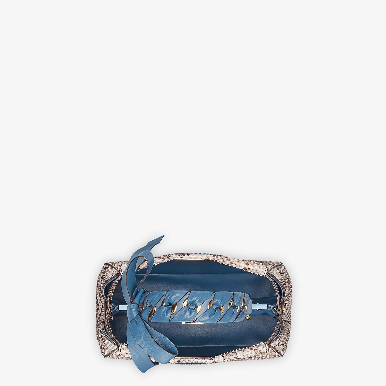FENDI PEEKABOO ICONIC MINI - Gray python bag - view 5 detail