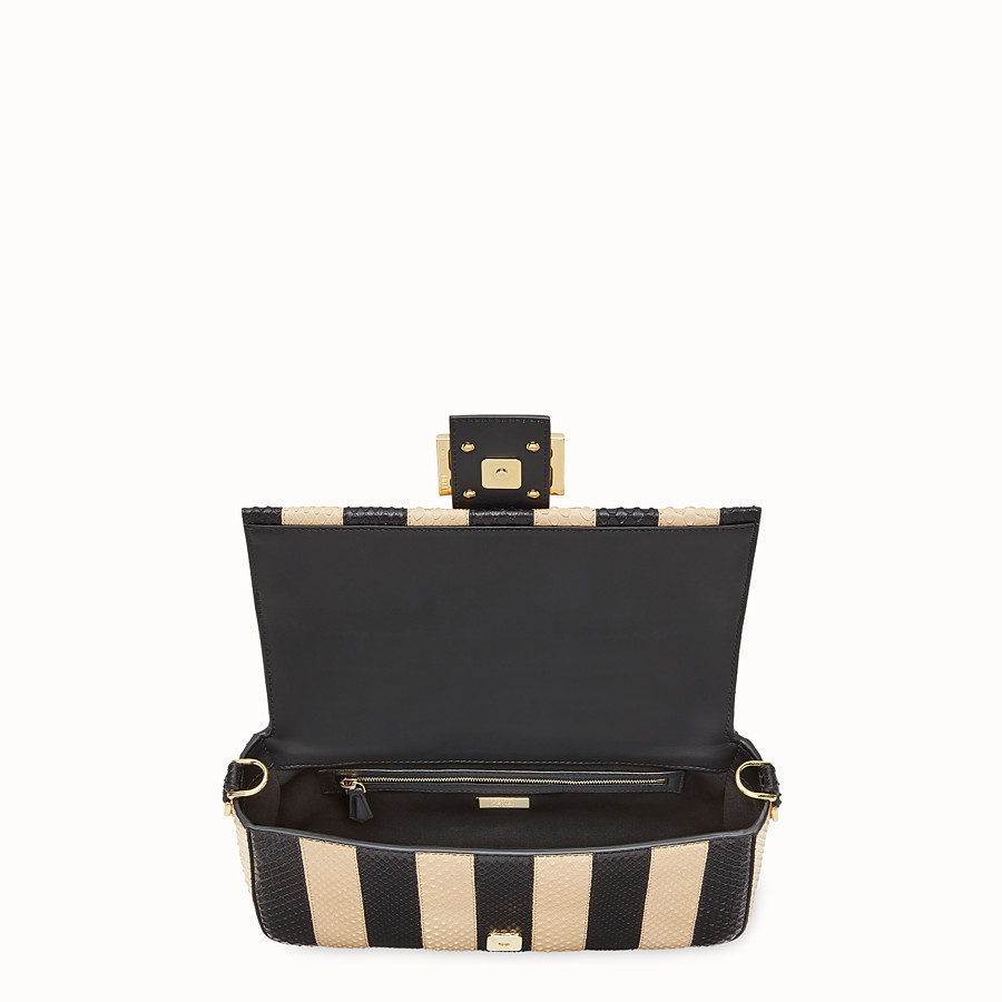 FENDI BAGUETTE - Black python leather bag - view 5 detail