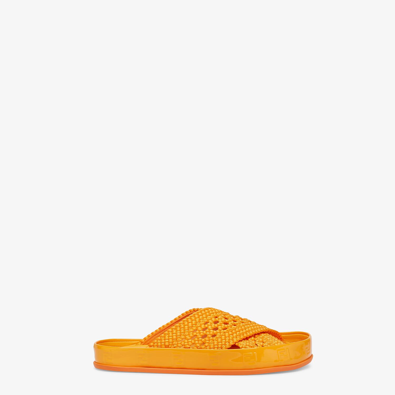 FENDI FENDI REFLECTIONS SLIDES - Orange stretch lace flats - view 1 detail