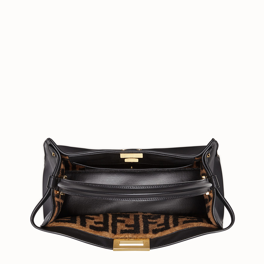 FENDI PEEKABOO X-LITE LARGE - Black leather bag - view 6 detail