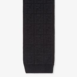 FENDI SCARF - Black knit scarf - view 1 thumbnail