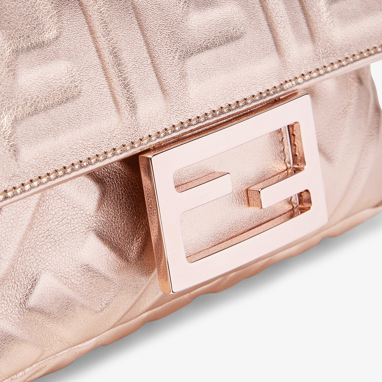 FENDI BAGUETTE MINI - Pink leather bag - view 5 detail