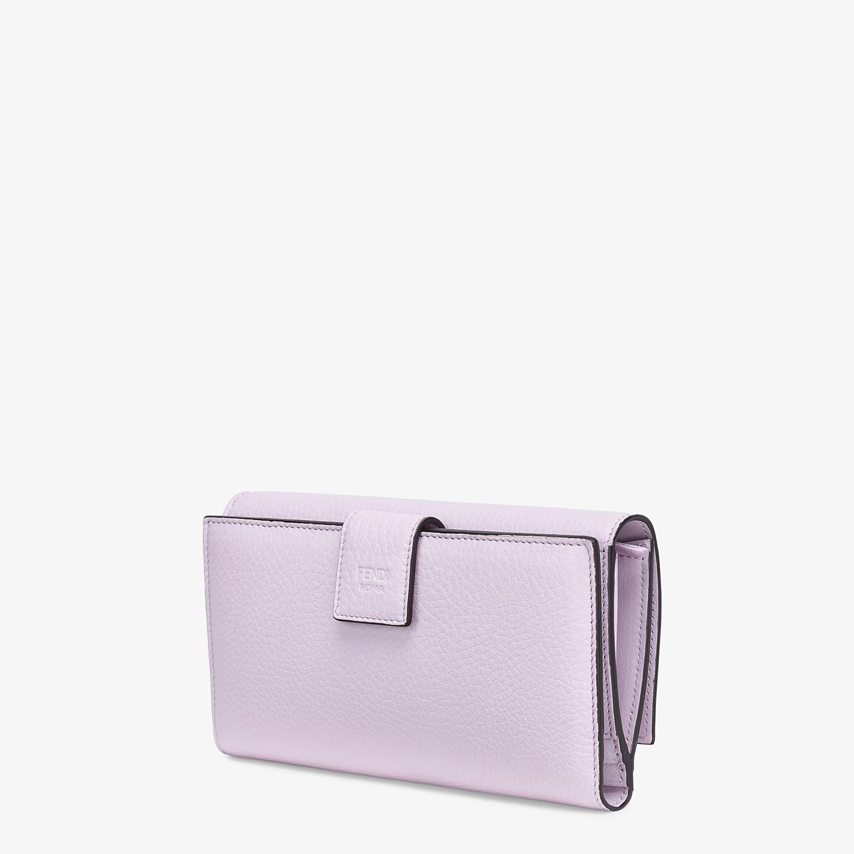 FENDI 三つ折り財布 - ライラックレザー 財布 - view 2 detail