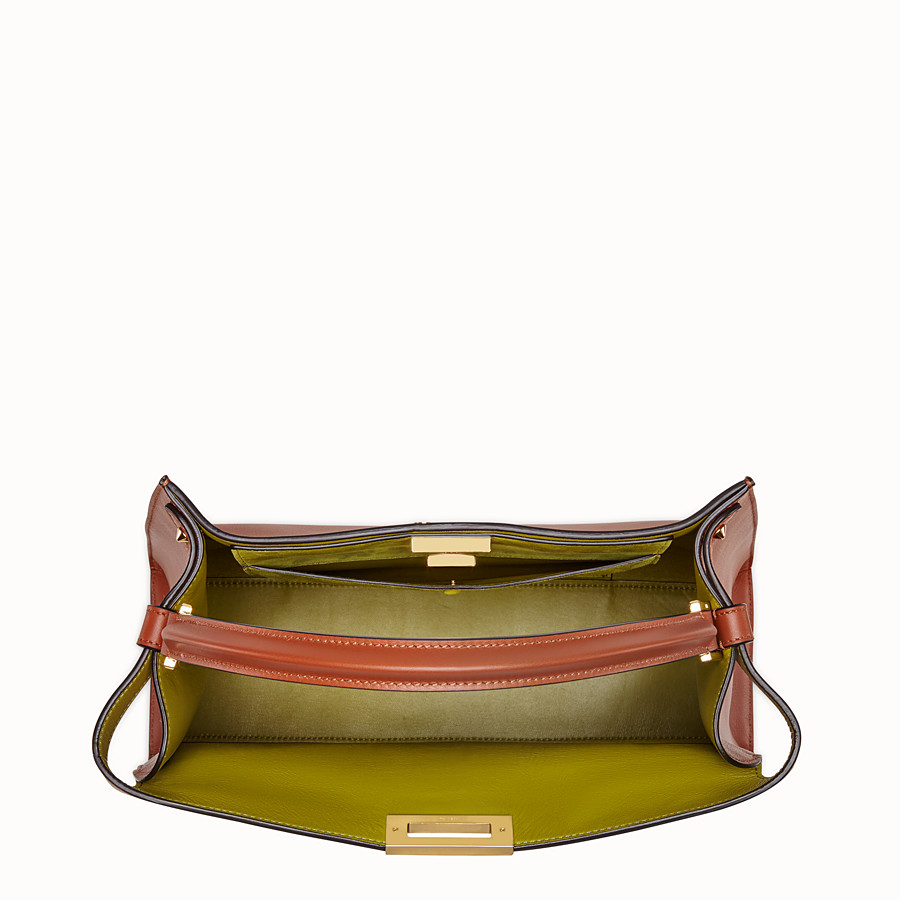 FENDI PEEKABOO X-LITE - Red leather bag - view 6 detail