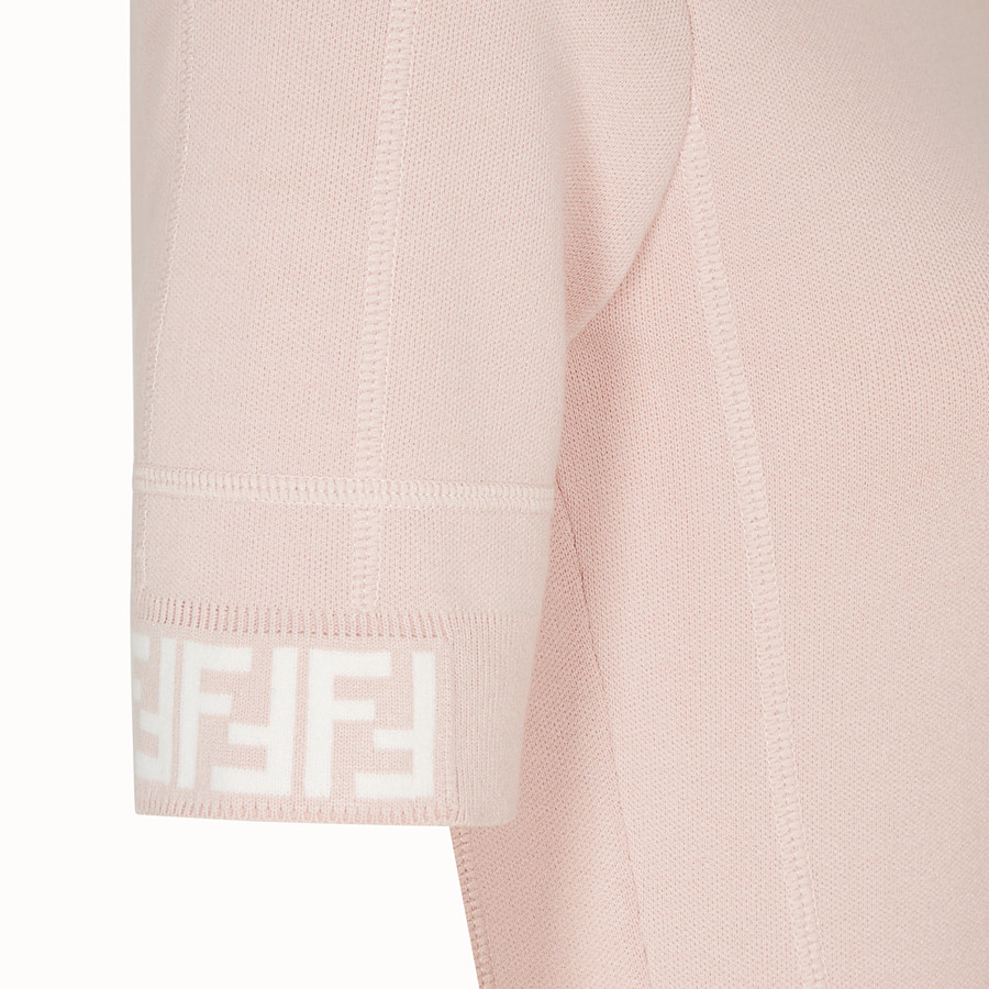 FENDI PULLOVER - Pink fabric jumper - view 3 detail
