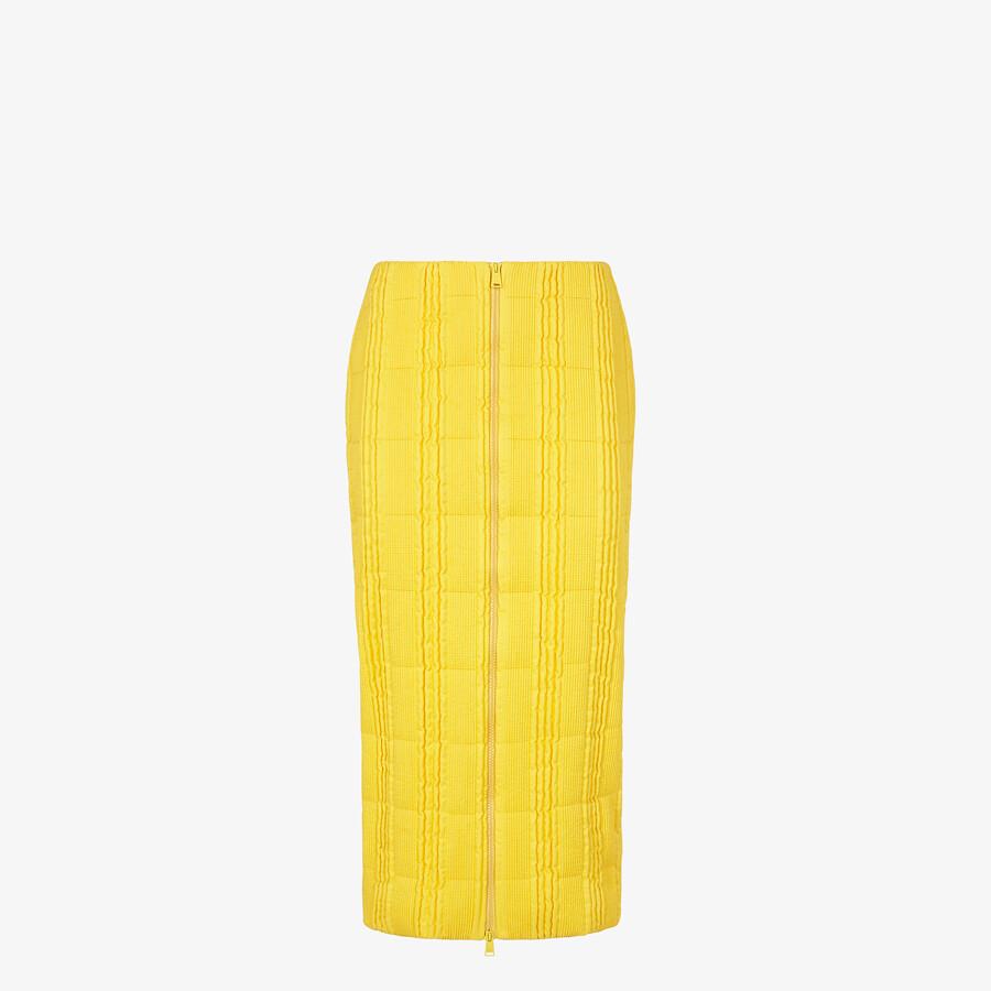 FENDI SKIRT - Yellow tech fabric skirt - view 1 detail