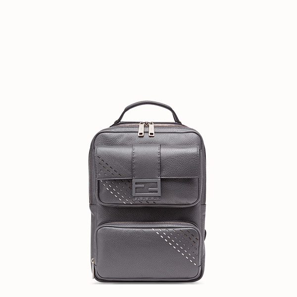 FENDI BACKPACK - Grey calf leather backpack - view 1 small thumbnail