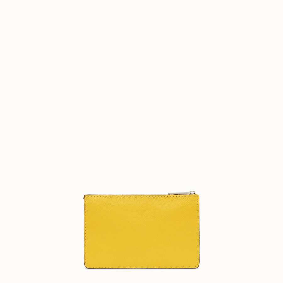 FENDI CLUTCH - in three-tone Roman leather - view 3 detail