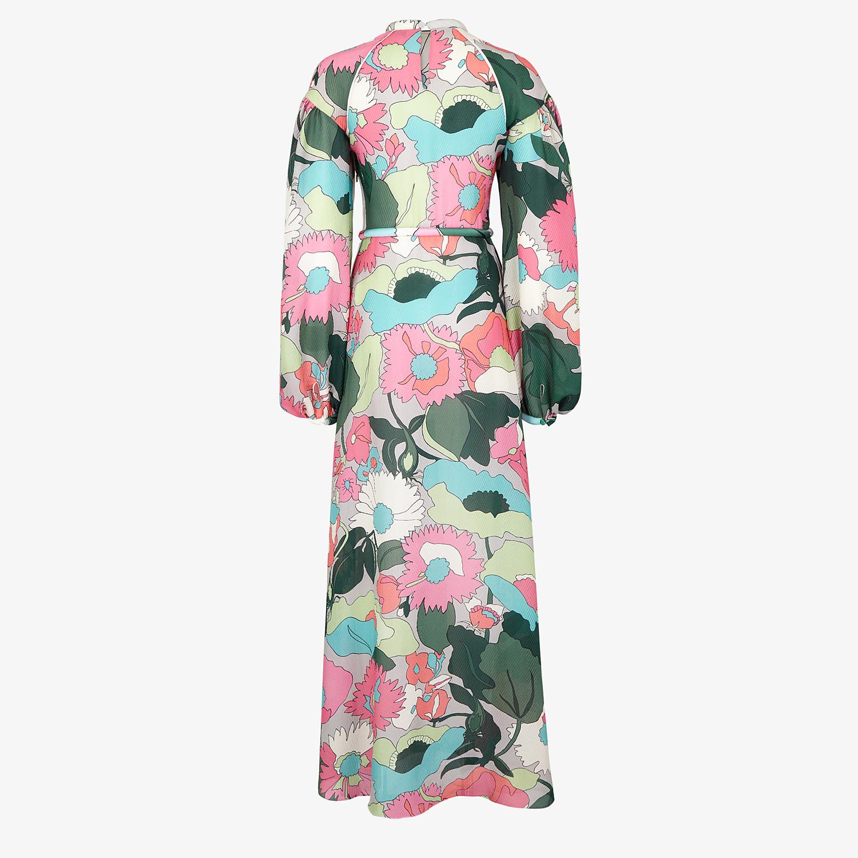 FENDI DRESS - Multicolour silk dress - view 2 detail