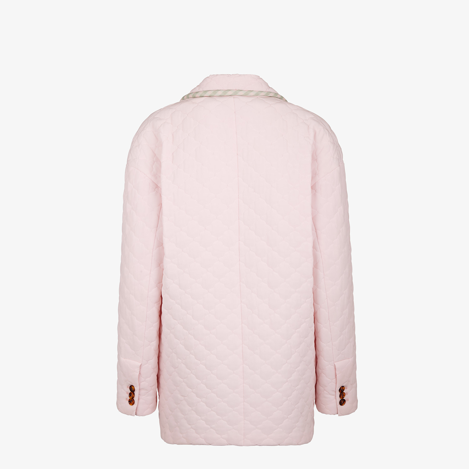 FENDI JACKET - Pink quilted crêpe de chine jacket - view 2 detail